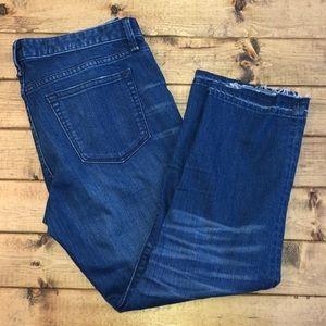 GAP Real Straight Bayside Wash Raw Hem Jeans 30s